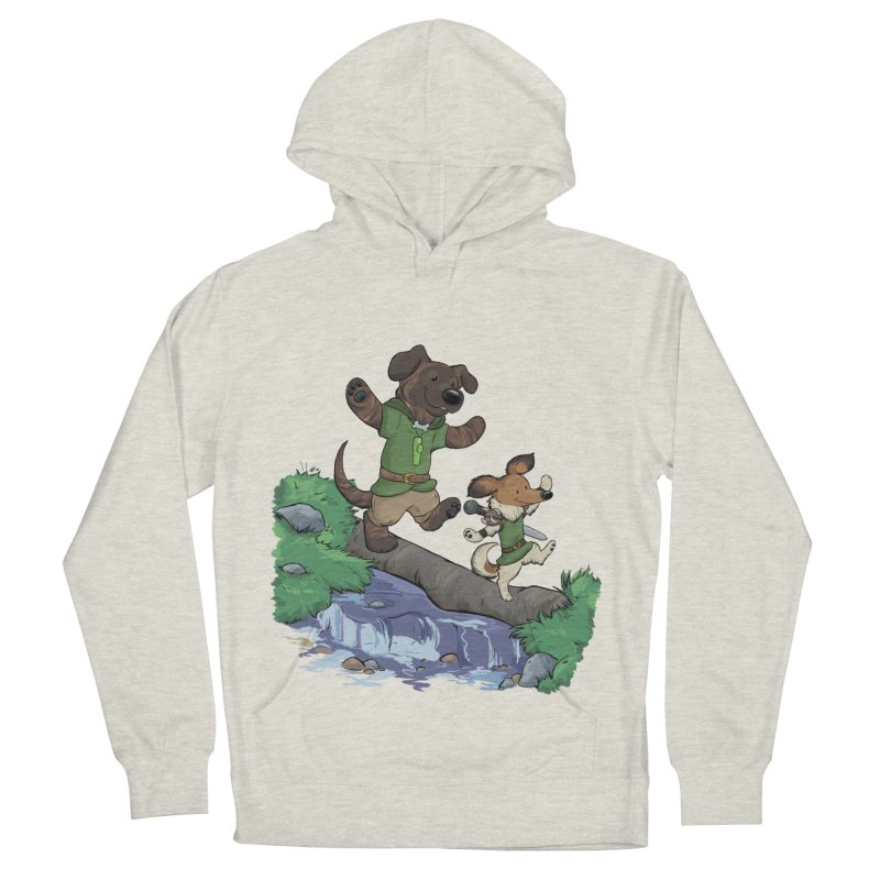 Adventure Buddies Men's French Terry Pullover Hoody by DnDoggos's Artist Shop