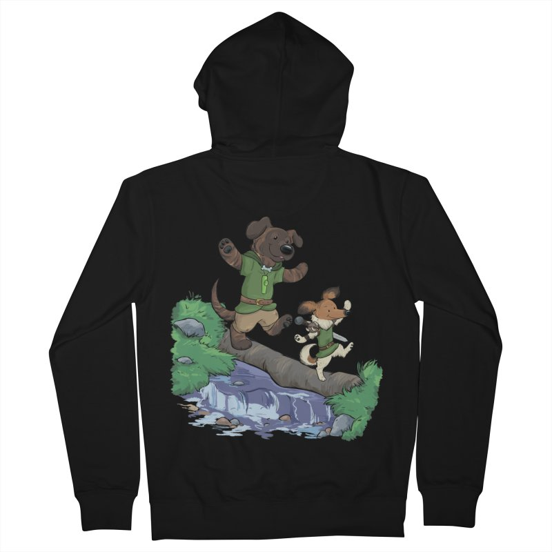 Adventure Buddies Women's French Terry Zip-Up Hoody by DnDoggos's Artist Shop