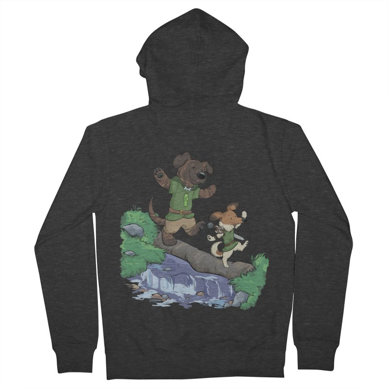 Adventure Buddies Men's French Terry Zip-Up Hoody by DnDoggos's Artist Shop