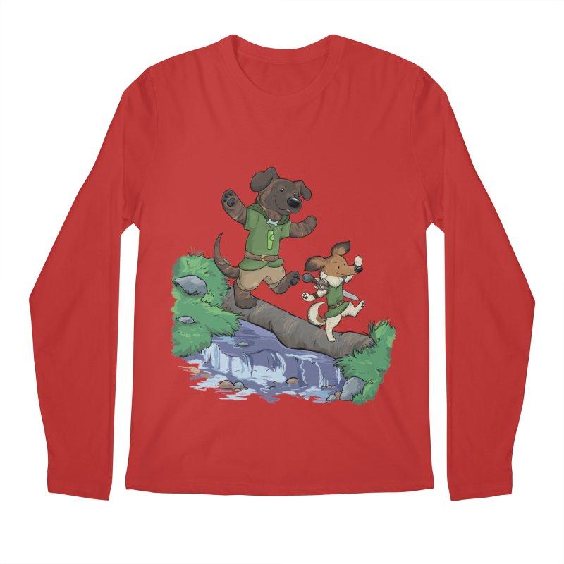 Adventure Buddies Men's Regular Longsleeve T-Shirt by DnDoggos's Artist Shop