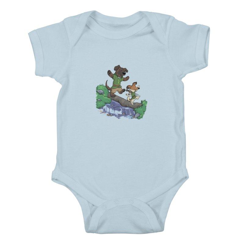 Adventure Buddies Kids Baby Bodysuit by DnDoggos's Artist Shop