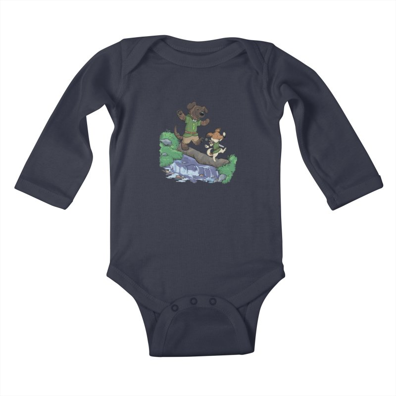 Adventure Buddies Kids Baby Longsleeve Bodysuit by DnDoggos's Artist Shop