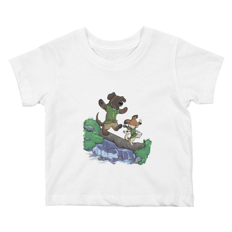 Adventure Buddies Kids Baby T-Shirt by DnDoggos's Artist Shop