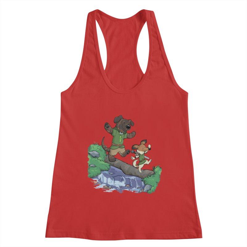 Adventure Buddies Women's Racerback Tank by DnDoggos's Artist Shop
