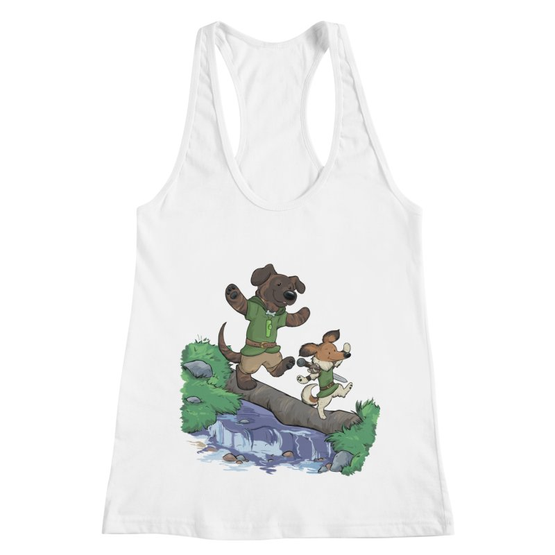 Adventure Buddies Women's Racerback Tank by DnDoggos's Artist Shop