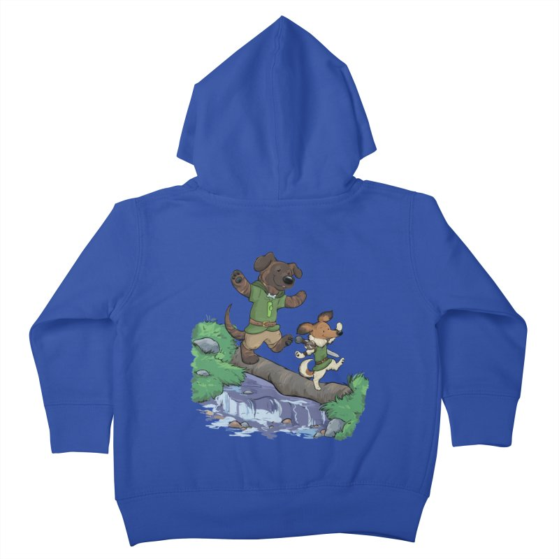 Adventure Buddies Kids Toddler Zip-Up Hoody by DnDoggos's Artist Shop