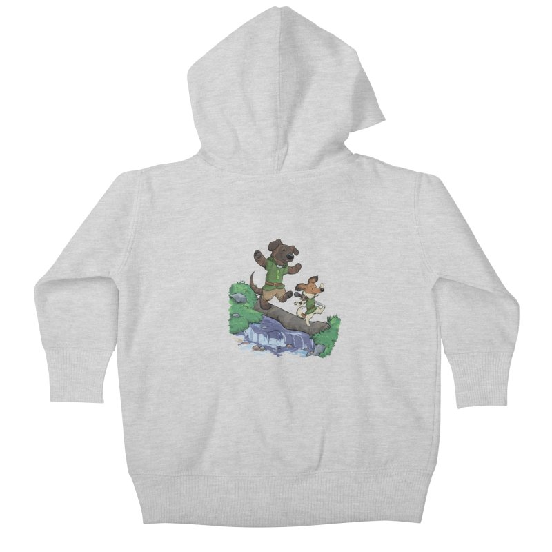 Adventure Buddies Kids Baby Zip-Up Hoody by DnDoggos's Artist Shop