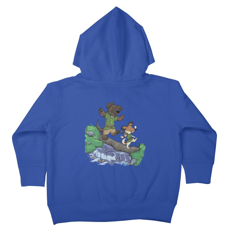 Adventure Buddies Kids Toddler Zip-Up Hoody by DnDoggos's Artist Shop