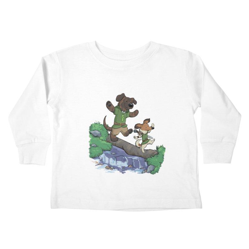 Adventure Buddies Kids Toddler Longsleeve T-Shirt by DnDoggos's Artist Shop