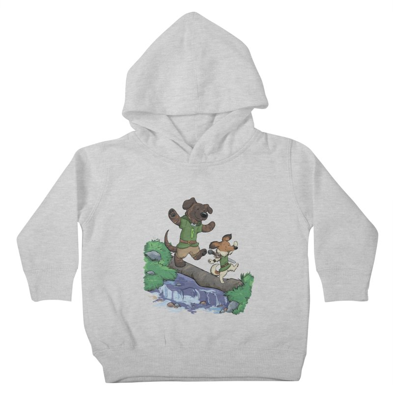 Adventure Buddies Kids Toddler Pullover Hoody by DnDoggos's Artist Shop