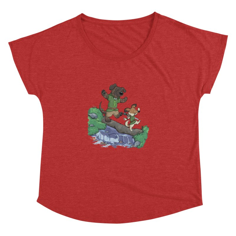 Adventure Buddies Women's Dolman Scoop Neck by DnDoggos's Artist Shop