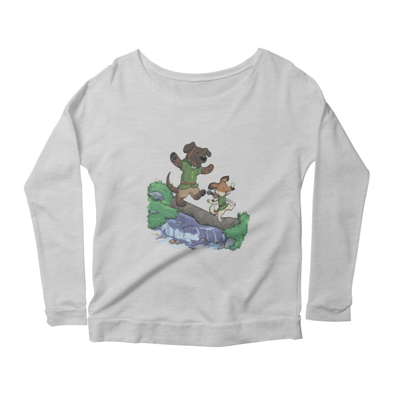 Adventure Buddies Women's Scoop Neck Longsleeve T-Shirt by DnDoggos's Artist Shop