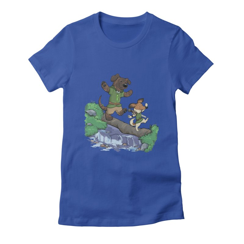 Adventure Buddies Women's Fitted T-Shirt by DnDoggos's Artist Shop