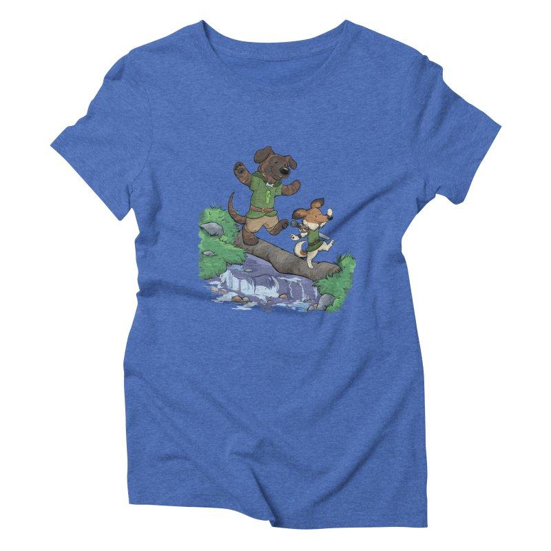 Adventure Buddies Women's Triblend T-Shirt by DnDoggos's Artist Shop