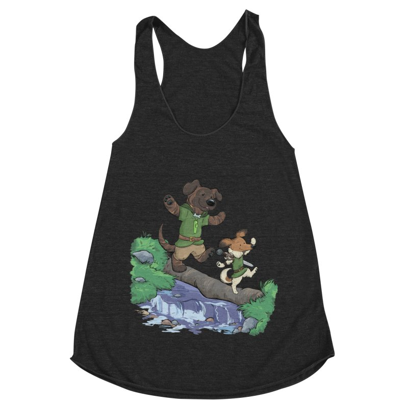 Adventure Buddies Women's Racerback Triblend Tank by DnDoggos's Artist Shop