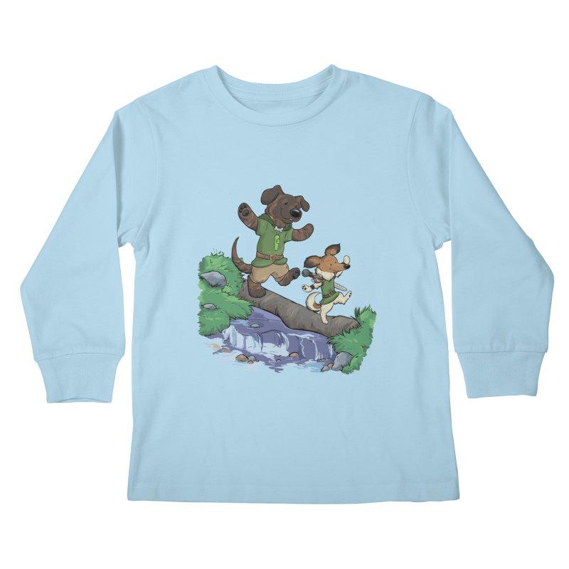 Adventure Buddies Kids Longsleeve T-Shirt by DnDoggos's Artist Shop