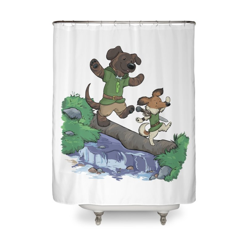 Adventure Buddies Home Shower Curtain by DnDoggos's Artist Shop