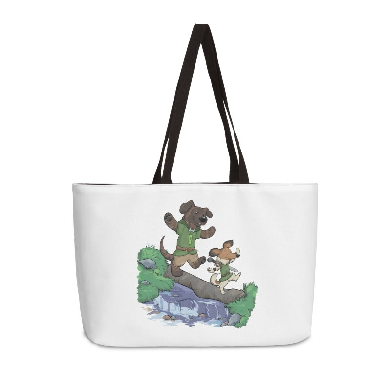 Adventure Buddies Accessories Weekender Bag Bag by DnDoggos's Artist Shop
