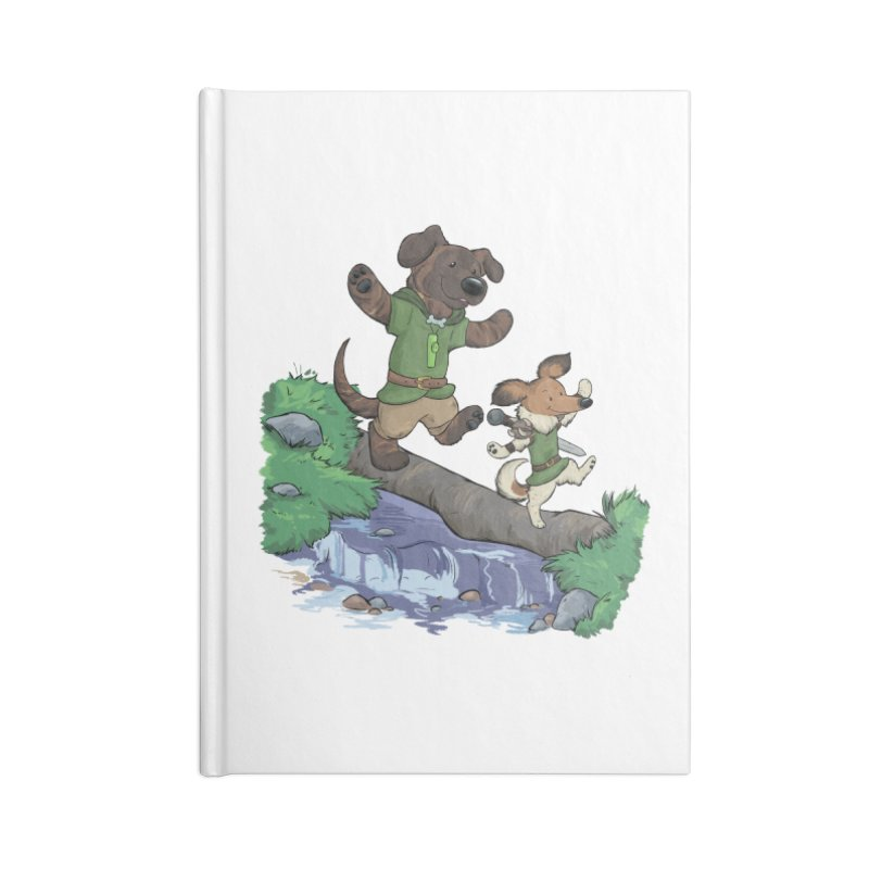 Adventure Buddies Accessories Lined Journal Notebook by DnDoggos's Artist Shop
