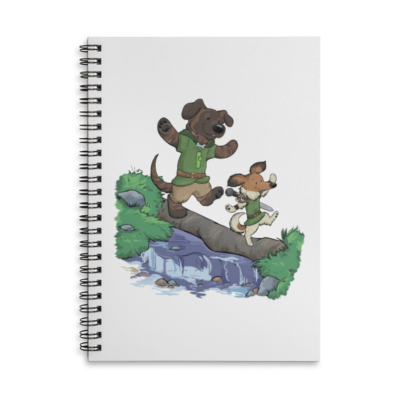Adventure Buddies Accessories Lined Spiral Notebook by DnDoggos's Artist Shop