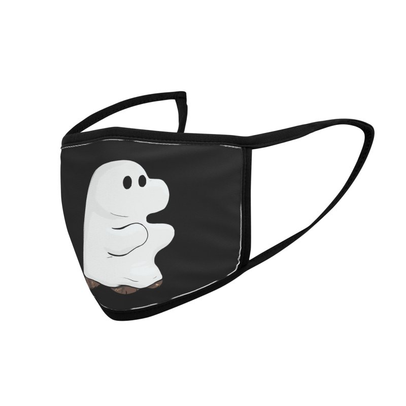 Spooky Sheet Ghost Dog Accessories Face Mask by DnDoggos's Artist Shop