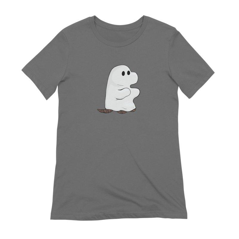 Spooky Sheet Ghost Dog Women's T-Shirt by DnDoggos's Artist Shop