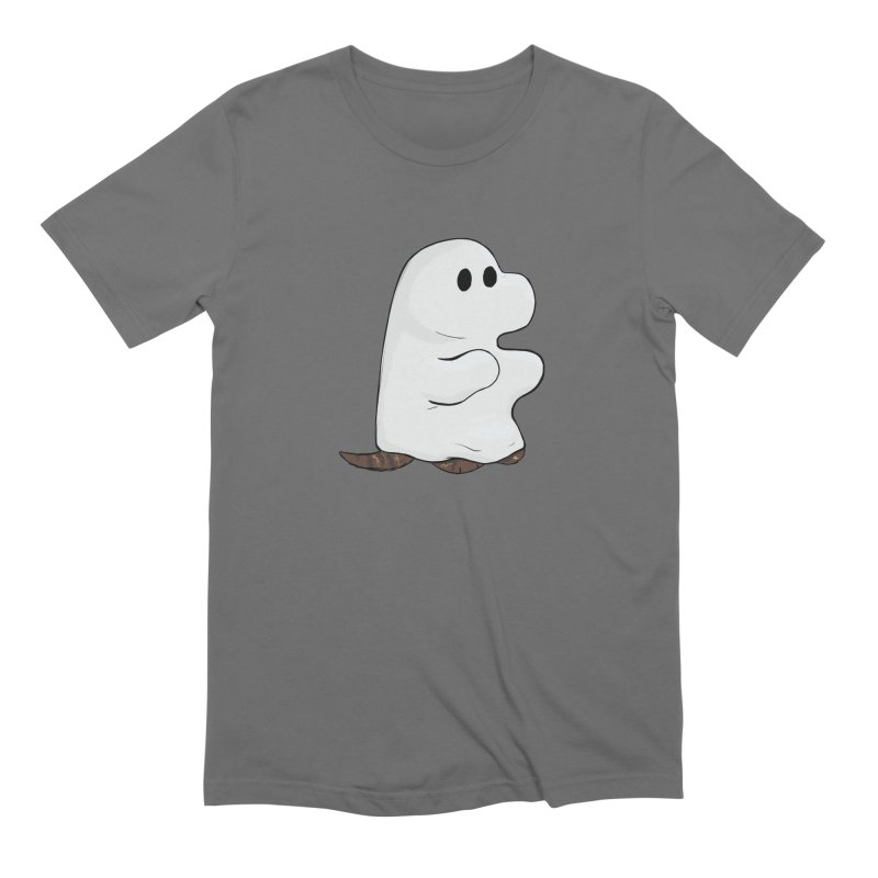 Spooky Sheet Ghost Dog Men's T-Shirt by DnDoggos's Artist Shop