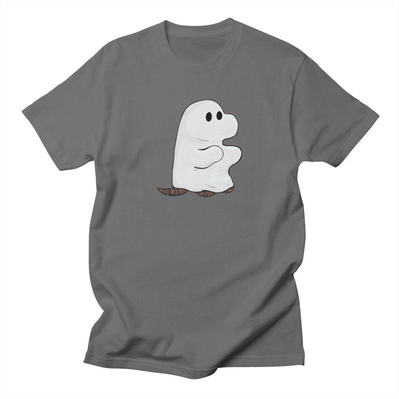 Spooky Sheet Ghost Dog Men's T-Shirt by DnDoggos's Artist Shop