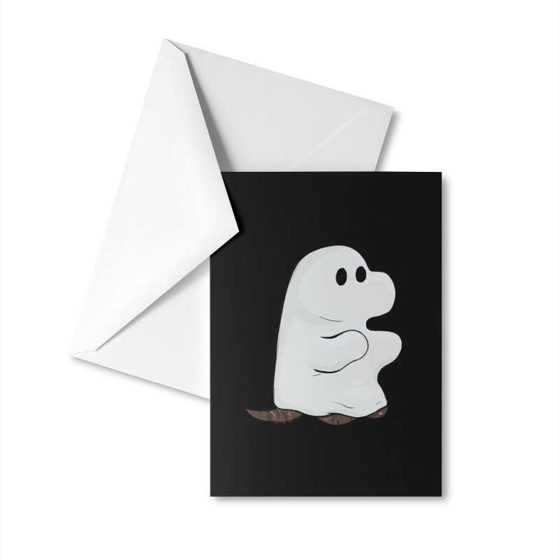Spooky Sheet Ghost Dog Accessories Greeting Card by DnDoggos's Artist Shop