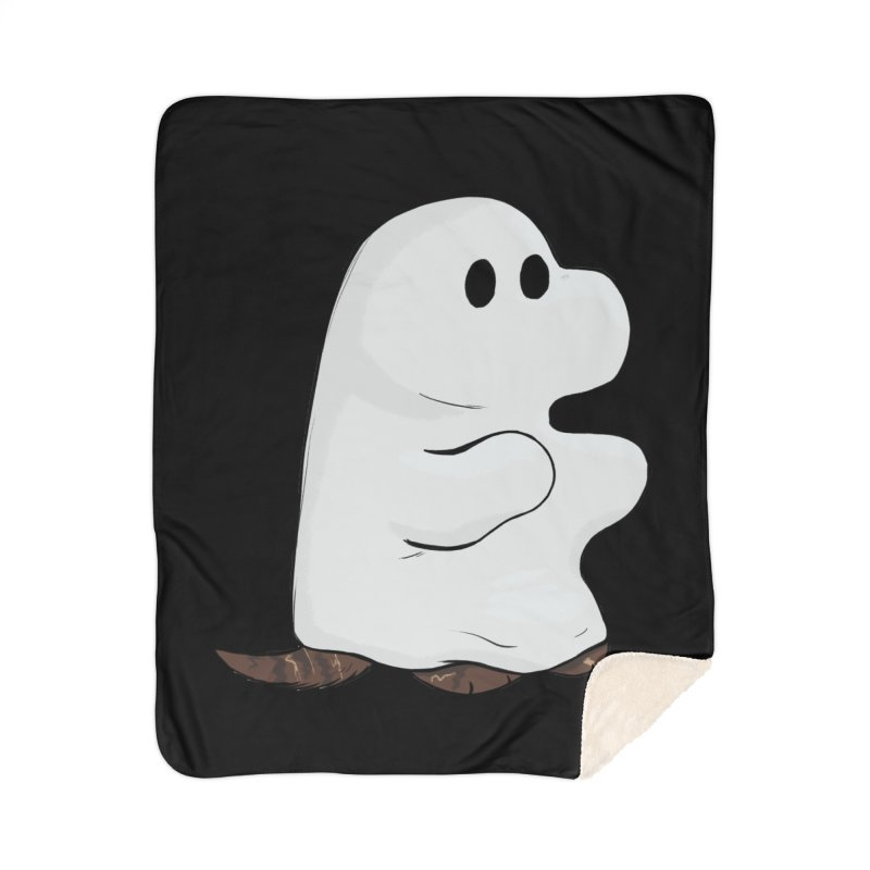 Spooky Sheet Ghost Dog Home Blanket by DnDoggos's Artist Shop