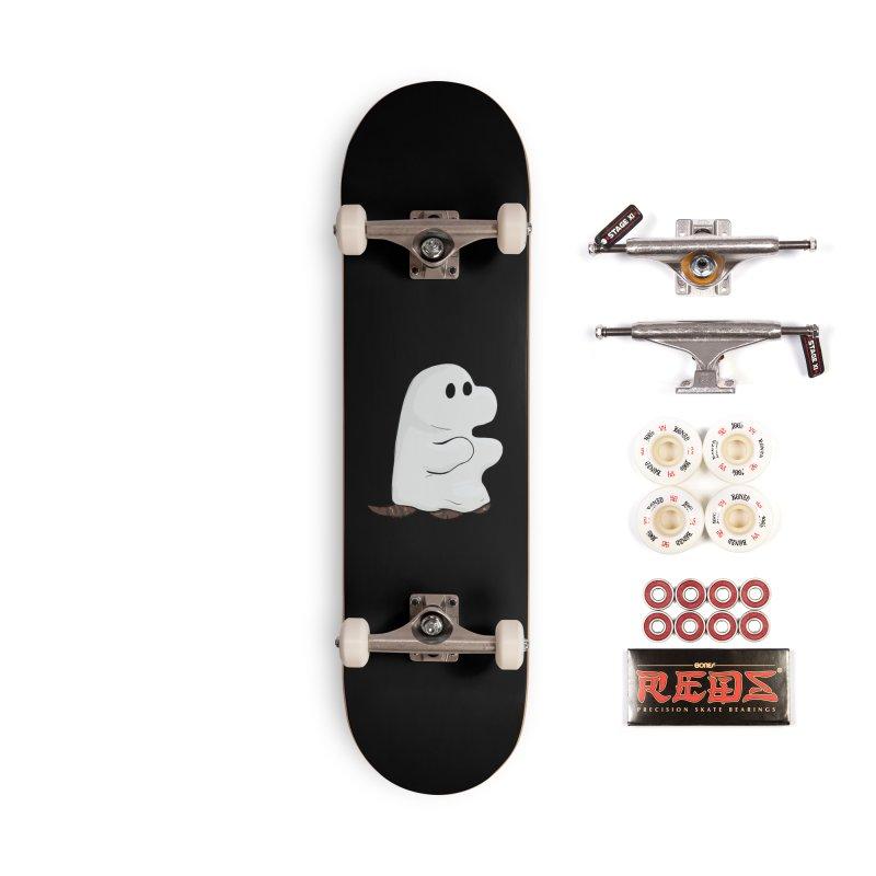 Spooky Sheet Ghost Dog Accessories Skateboard by DnDoggos's Artist Shop