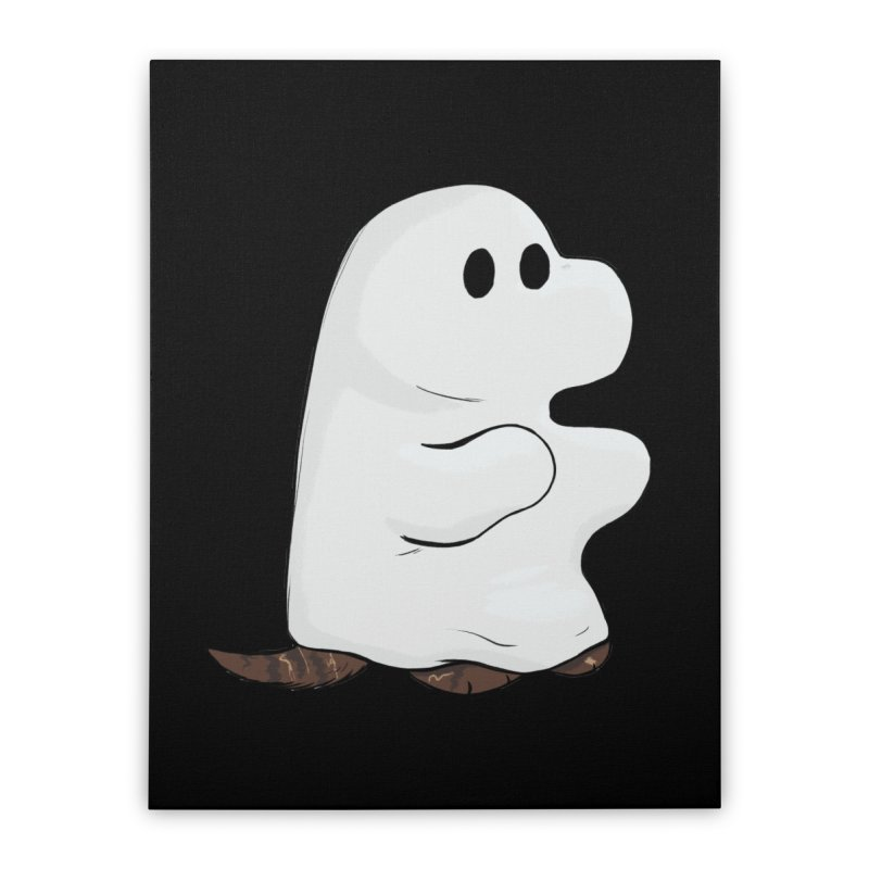 Spooky Sheet Ghost Dog Home Stretched Canvas by DnDoggos's Artist Shop