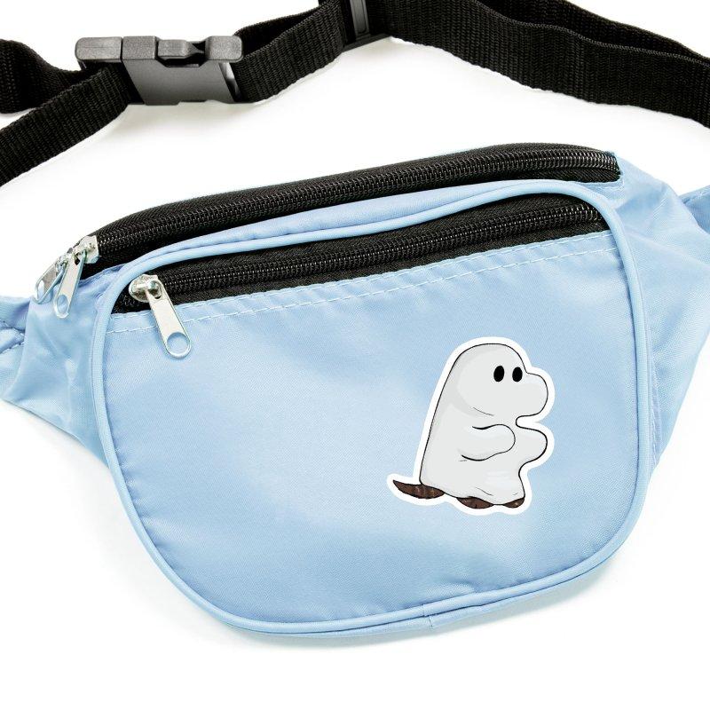 Spooky Sheet Ghost Dog Accessories Sticker by DnDoggos's Artist Shop