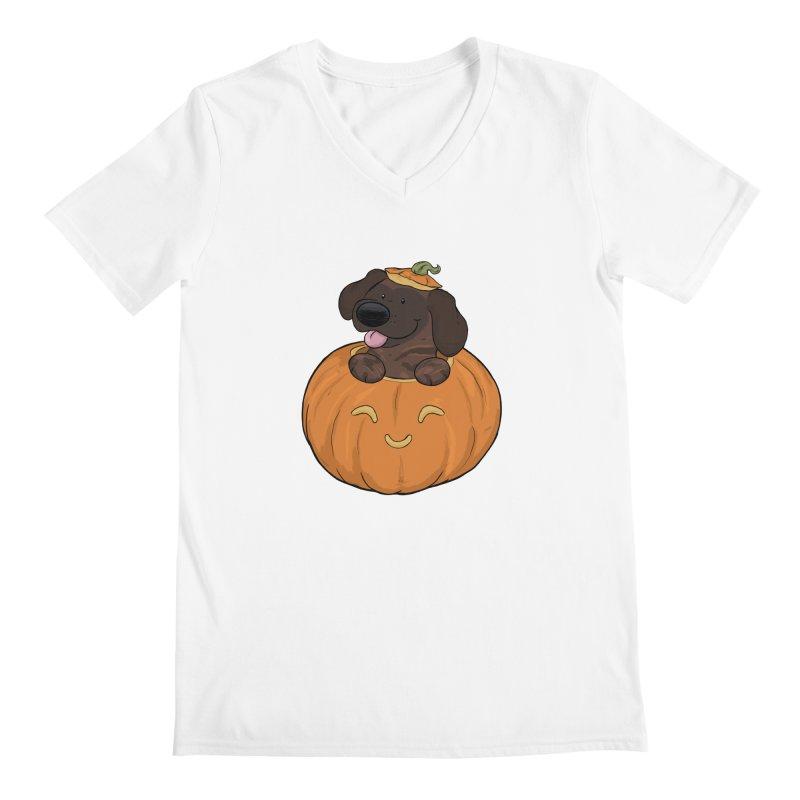 Tonka the Pumpkin Pupkin Men's V-Neck by DnDoggos's Artist Shop