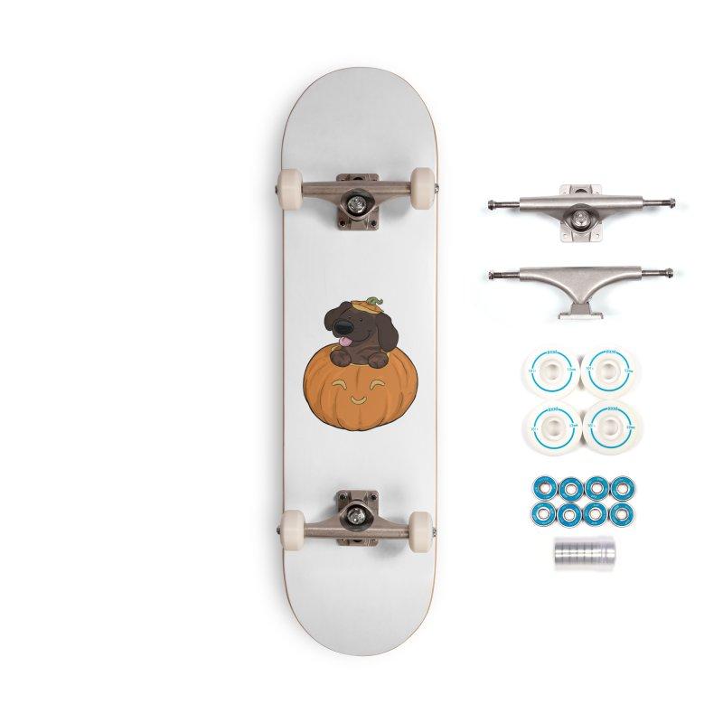 Tonka the Pumpkin Pupkin Accessories Skateboard by DnDoggos's Artist Shop