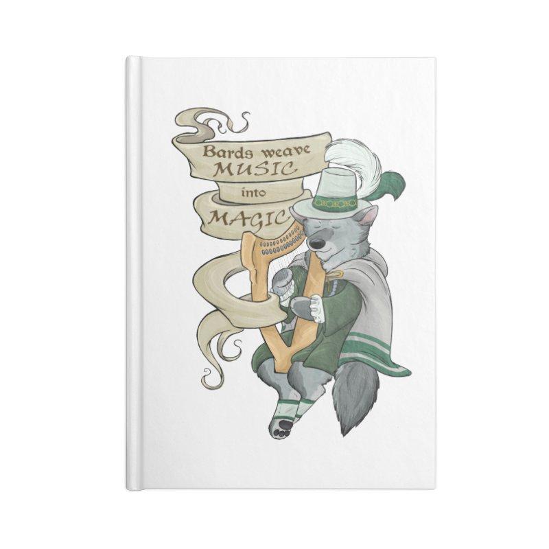 Harp Bard Wolf Accessories Notebook by DnDoggos's Artist Shop