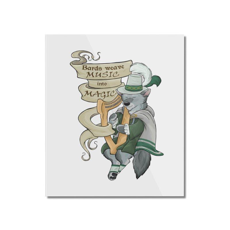 Harp Bard Wolf Home Mounted Acrylic Print by DnDoggos's Artist Shop