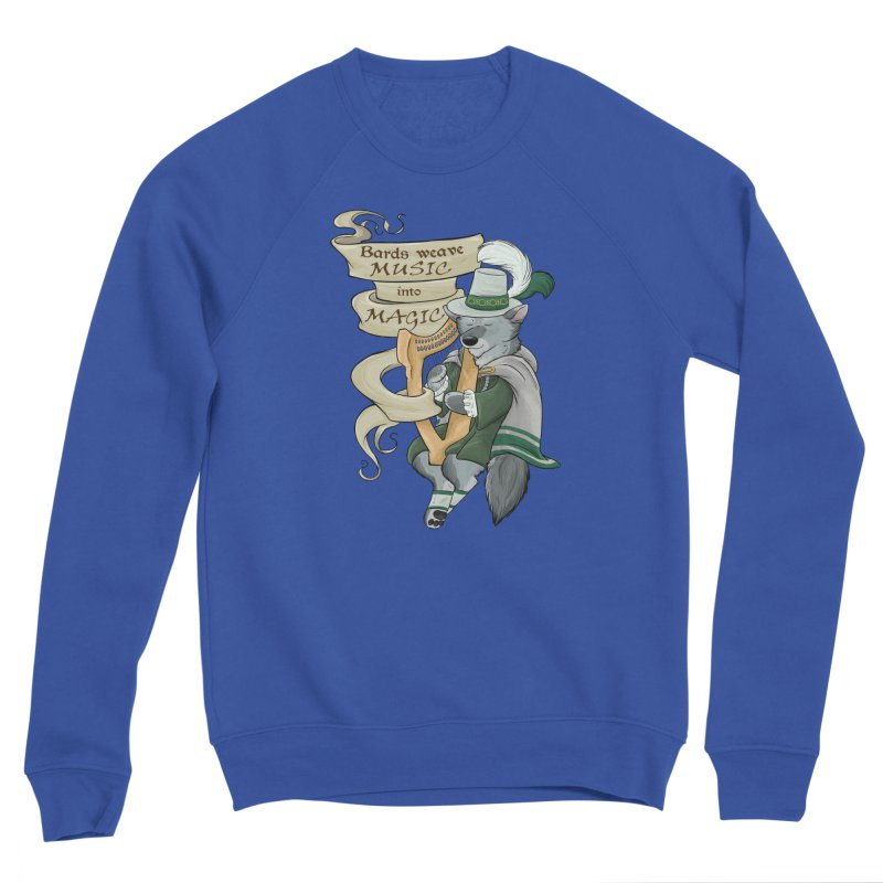 Harp Bard Wolf Men's Sweatshirt by DnDoggos's Artist Shop