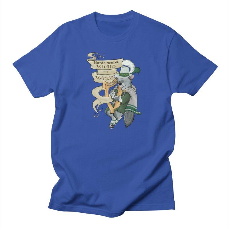 Harp Bard Wolf Men's T-Shirt by DnDoggos's Artist Shop