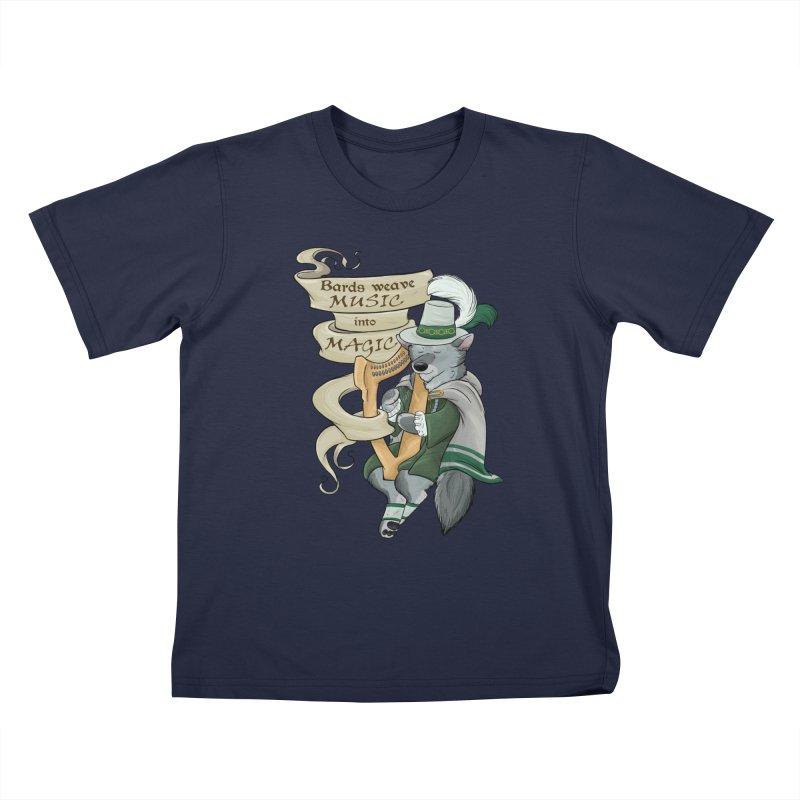 Harp Bard Wolf Kids T-Shirt by DnDoggos's Artist Shop