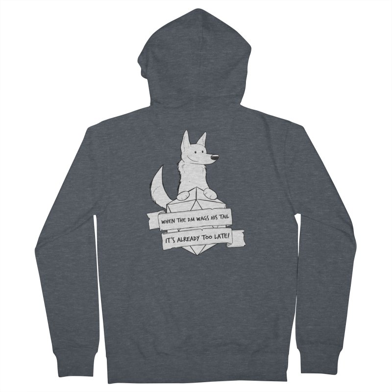 When the DM Wags His Tail Men's French Terry Zip-Up Hoody by DnDoggos's Artist Shop