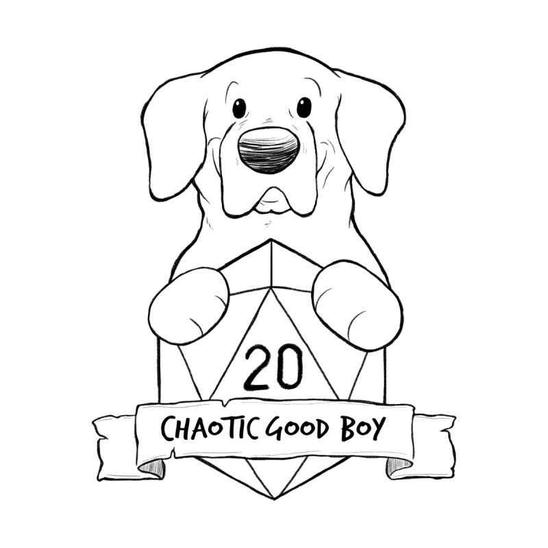 Tonka Chaotic Good Boy Men's T-Shirt by DnDoggos's Artist Shop