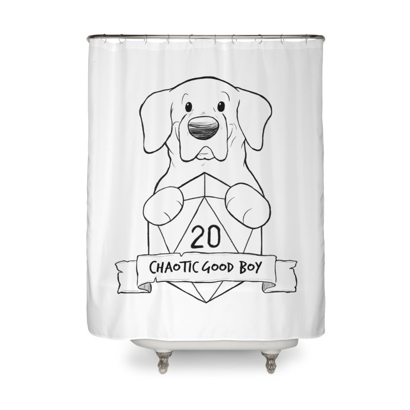 Tonka Chaotic Good Boy Home Shower Curtain by DnDoggos's Artist Shop
