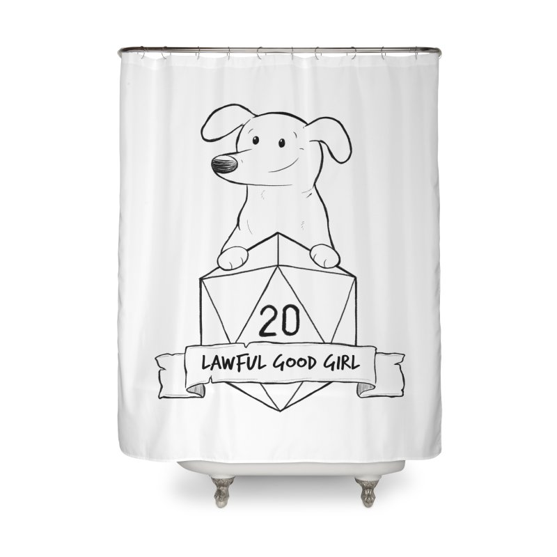 Zoey Lawful Good Girl Home Shower Curtain by DnDoggos's Artist Shop