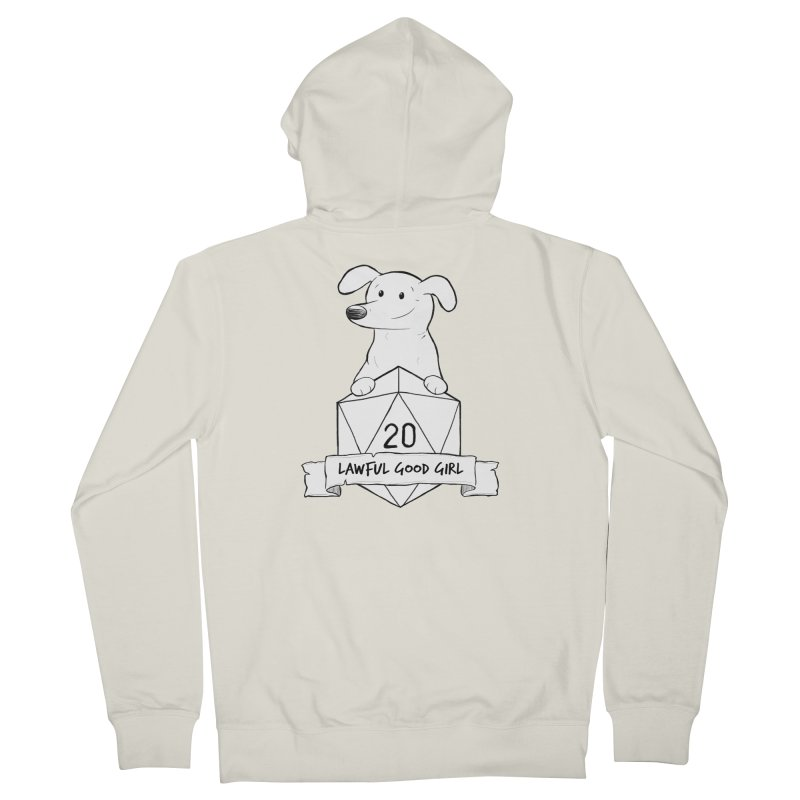 Zoey Lawful Good Girl Men's French Terry Zip-Up Hoody by DnDoggos's Artist Shop