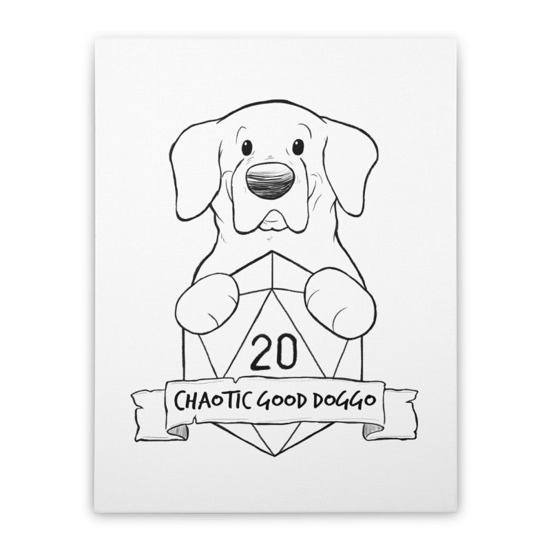 Tonka Chaotic Good Doggo Home Stretched Canvas by DnDoggos's Artist Shop