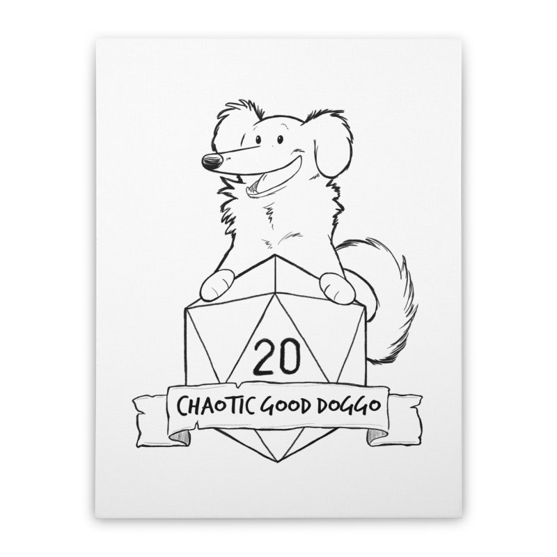 Pickles Chaotic Good Doggo Home Stretched Canvas by DnDoggos's Artist Shop