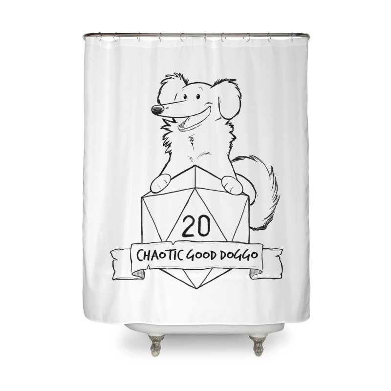 Pickles Chaotic Good Doggo Home Shower Curtain by DnDoggos's Artist Shop