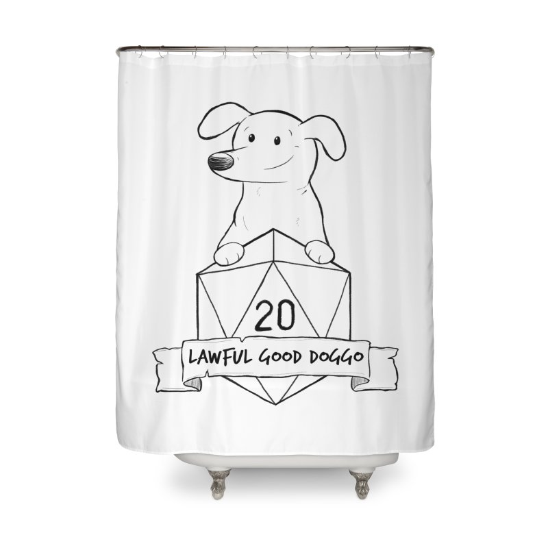 Zoey Lawful Good Doggo Home Shower Curtain by DnDoggos's Artist Shop