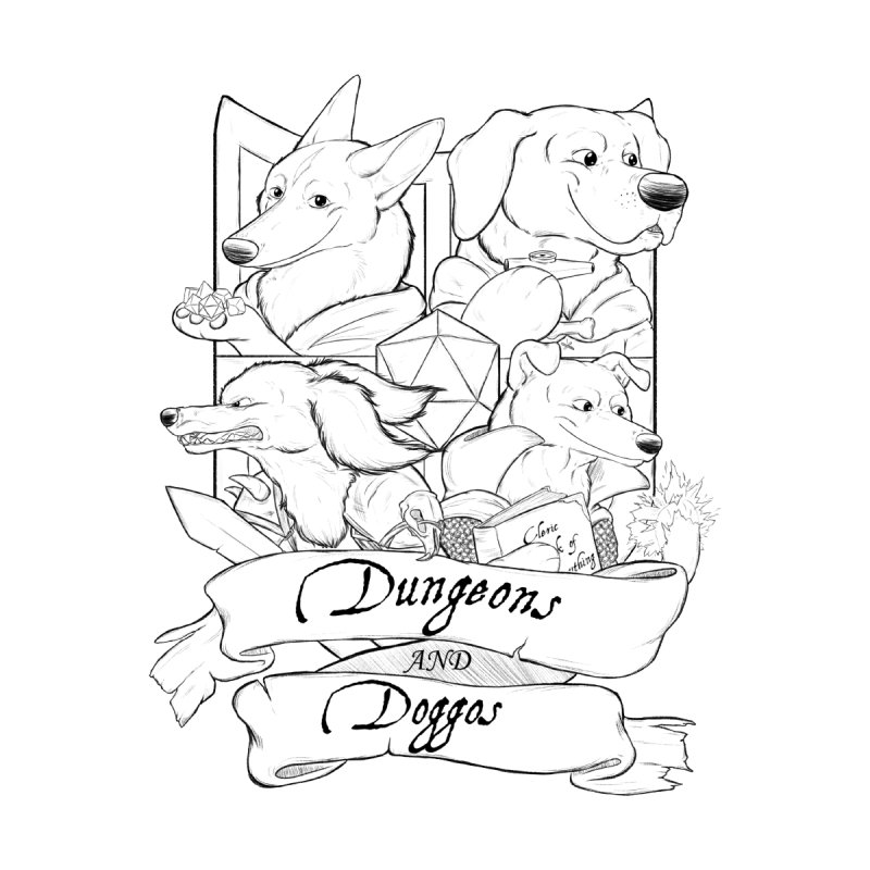DnDoggos Emblem Women's Zip-Up Hoody by DnDoggos's Artist Shop